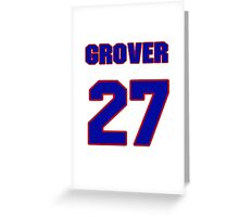 National baseball player Grover Hartley jersey 27 Greeting Card