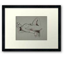 Pure Relaxation Female Nude (Drawing)- Framed Print
