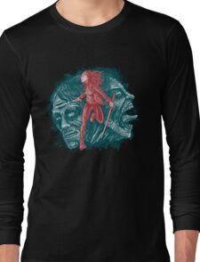 Katana girl & Zombies Long Sleeve T-Shirt