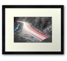 Boulder County Colorado Blazing Canyon View BWSC Framed Print