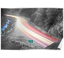 Boulder County Colorado Blazing Canyon View BWSC Poster