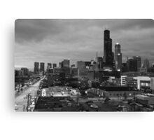 Chicago loop at night Canvas Print