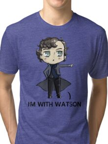 """I'm With Watson"" Tri-blend T-Shirt"