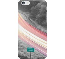 Boulder County Colorado Blazing Canyon View BWSC iPhone Case/Skin