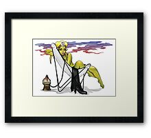 Oola Up in Smoke Framed Print