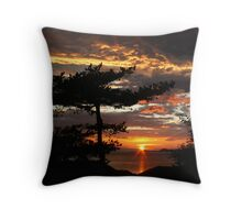 Highland  Sunset Throw Pillow