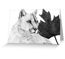 Canadian Cougar Greeting Card