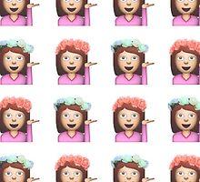 Sassy Hula Girl Emoji Pattern by Rad Merch