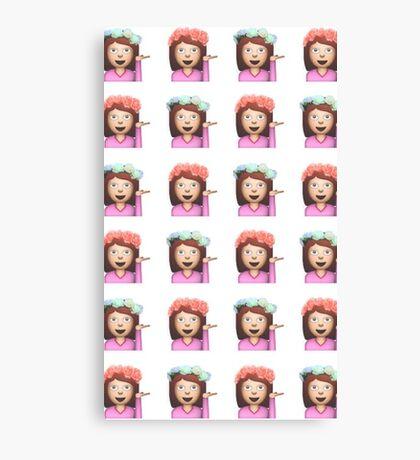 Sassy Hula Girl Emoji Pattern Canvas Print