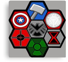 Avengers Assemble - Minimal Comic Hero Logo Canvas Print