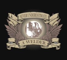 Amazing 'Never Underestimate a Welder' T-shirts, Hoodies, Accessories and Gifts by Albany Retro