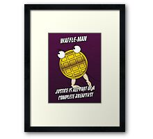 Waffle-Man Framed Print