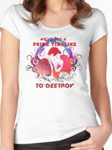 Community: Evil Jeff & Evil Annie The Darkest Timeline Women's Fitted Scoop T-Shirt