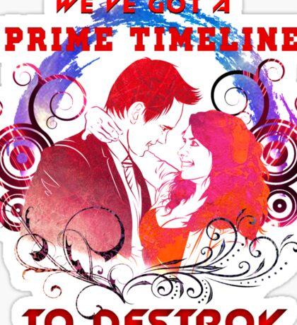 Community: Evil Jeff & Evil Annie The Darkest Timeline Sticker