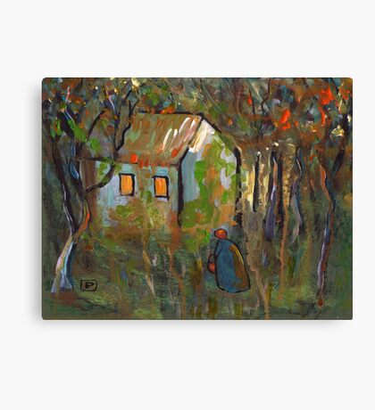 The woodcutters wife Canvas Print