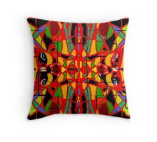 ELECTRIC CHIHUAHUAS ON GLAZED TILE Throw Pillow