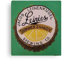 Summer Shandy bottle cap Canvas Print