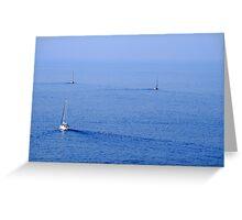 Greek Yachts Greeting Card
