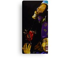 And The Joker Strings Along the Heart of The Fool Canvas Print