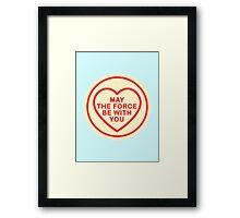 Geeky Love Hearts - Force Framed Print