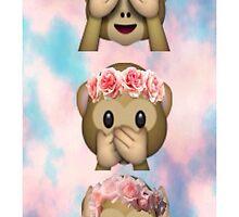 Hula Monkeys Emoji Design by Rad Merch