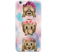 Hula Monkeys Emoji Design iPhone Case/Skin