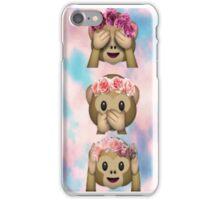 Hula Monkeys Emoji Design iPhone Case/Skin