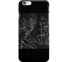 Girl Drinking With Leaves Doodle iPhone Case/Skin