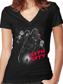 Sith City (Colab with  LgndryPhoenix) Women's Fitted V-Neck T-Shirt