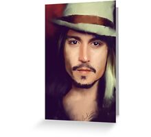 Johnny Depp Greeting Card