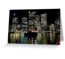 Brisbane city lights Greeting Card