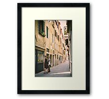 Window Shopping in Venice, Italy Framed Print