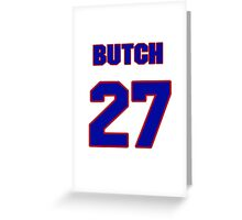 National baseball player Butch Wynegar jersey 27 Greeting Card