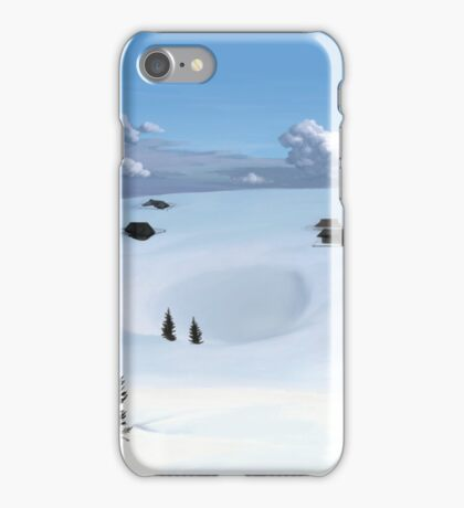 Winter landscape (V) iPhone Case/Skin