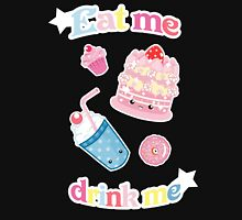 Eat me, drink meh Womens Fitted T-Shirt