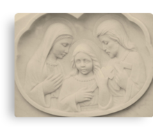 Jesus As A Young Boy With Mary and Joseph Canvas Print