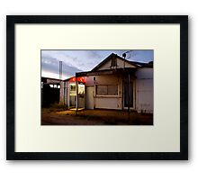 The old Stewart Store Framed Print