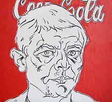 Self-portrait with Coca Cola by Vitali Komarov