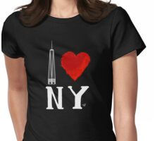 I Love NY Freedom (wht) by Tai's Tees Womens Fitted T-Shirt