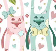 Funny rabbits Sticker