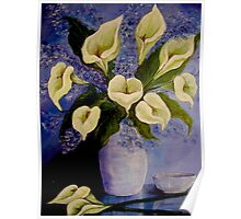 Lilies from my garden Poster