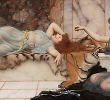 Mischief and Anon - John WIlliam Godward, 1895 by Devaghost