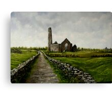 """""""Scattery Island Ruins - County Clare, Ireland"""" Canvas Print"""