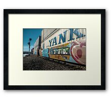 Runaway Train in the winter Framed Print
