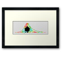 Pixelated Faceless Girl Framed Print