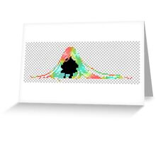 Pixelated Faceless Girl Greeting Card