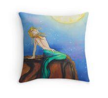 Mermaid's Moods: Moon Throw Pillow