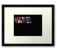 Marvel Hero Action Shot Framed Print