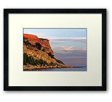 Sunset at Pointe des Lombards near Cassis, France Framed Print