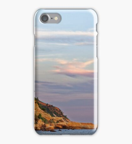 Sunset at Pointe des Lombards near Cassis, France iPhone Case/Skin